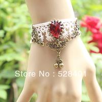 Accessories fashion lace multicolour cherry gem bracelet female vintage bracelet wrist length belt