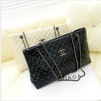 2013 women's bag fashion chain black-and-white women's handbag rhombus shoulder handbag