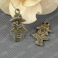 Fashion Jewelry Findings Accessories charm pendant alloy bead Antique Bronze 16*31MM girl shape 60PCS JJA2574
