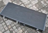 Black double neck guitar case free shipping