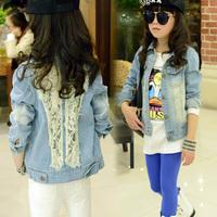 New Arrival Girls Fashion Coat Denim Jacket Outerwear All-match Denim Jacket Coat Free Shipping