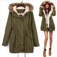 Free shipping women 2013 new fashion brand winter women's desigual jacket woolrich women's down jacket with real fur
