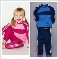 Free SHIPPING Baby Boy 2pc Set Sporty Suit longsleeved t shirt+striped Pants Boys autumn Fashion Set Children Suit