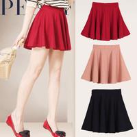 Fashion women's bust skirt  female short high waist slim hip  pleated skirt solid colour 11colours Ball Gown Skirt