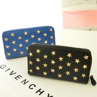 2013 women's wallet high quality PU women's long design day clutch card holder rivet clutch