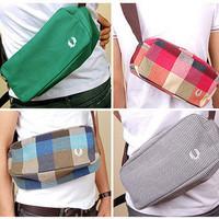 Fashion small bag preppy style fashionable casual male women's handbag waist pack small shoulder bag messenger bag multicolor