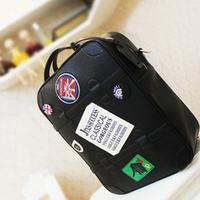 women backpack Women's handbag PU box bag multifunctional travel bag badge cross-body handbag backpack