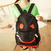 women backpack  printing backpack  backpacks Smiley backpack thick canvas casual bag general preppy style all-match school bag