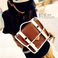 Fashion preppy style lovers backpack vintage one shoulder cross-body backpack multi-purpose student school bag