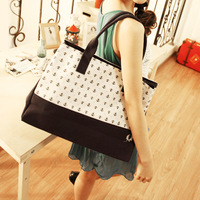 High quality thickening edition canvas bag handbag single shoulder bag large capacity bag preppy style anchor