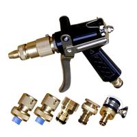 Full metal copper alloy gun copper high pressure car wash water gun set 6
