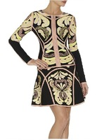 2014 new long-sleeved suit Slim sexy bandage dress totem prom dresses 2014
