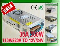AC100-110V / 200-220V to 12V or 24V 350W 360W LED switching power adapter supply transformer