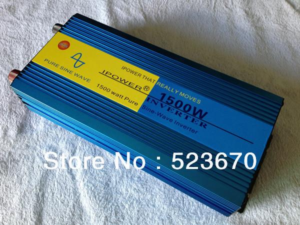 1500 1500W Pure Sine Wave Power Inverter Converter 12V DC to 220V AC 3000 Watt Peak(China (Mainland))