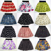 2014 spring,summer,female,European,Askirts,double-pleated chiffon vintage high waist big tutu skirts,fashion women short dress