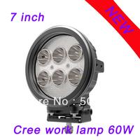 EMC function 60w cree led work light 12V 24V IP67 Spot beam For 4WD 4x4 Off road Light Bars TRUCK BOAT TRAIN BUS 2pcs
