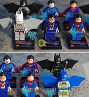 2014 New Hot sale Super heroes Four Batman VS  Four Superman Plastic toys Building blocks Model doll LELE Brand Free shipping