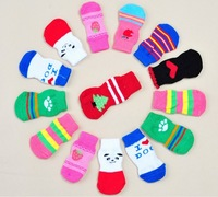 Wholesale Fashion Small Dogs Cats Socks 2014 New Pets Products Supplies,Free Shipping,10Sets/Lot