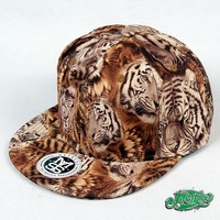 METRUST Leopard skateboard influx of people rap hip-hop HIPHOP / DANCER baseball cap flat-brimmed hat