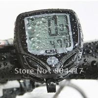 Wholesale Guaranteed New 100% Wireless LCD Bike Bicycle Accessories Cycle Computer Odometer Speedometer Waterproof+Free Shipping