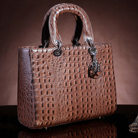 Brand 2014 high quality crocodile leather cowhide handbag genuine leather fashion personality vintage women's handbag shaping