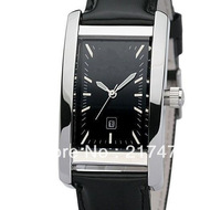Free shipping+ wholesale! men watch Black Leather Strap Strap gents watch .