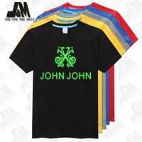 John John logo printed tshirt brasil brand tee shirt 100% cotton camiseta Chinese SIze S-6XL camisa glow in the dark