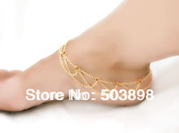 F11 Fashion Body Harness Chain Foot Jewelry Gold Silver Gun Black