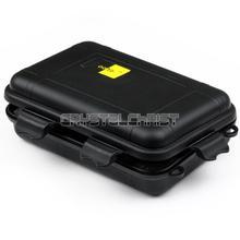 super big Black Plastic Waterproof Airtight Case Fly Fishing Container Storage Travel Box(China (Mainland))