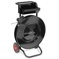 Strapping Belt Reel Cart is suitable for place the  PP, PET, polyester fiber packing belt, steel belt etc.