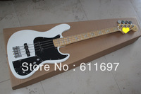 2014 new arrival + free shiping  + Factory + FD 4 string deluxe jazz bass OLYMPIC WHITE 4 knobs twin battery box active pickups