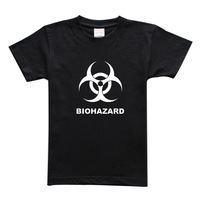 cotton personalized t-shirt print long-sleeve biohazard plus size available