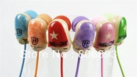Free shipping Wholesale New cute  KEEKA Super Bass In-Ear Earphone Headphone KA02 20 pcs a lot 4 colors retail pack