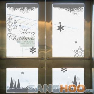 Christmas wall stickers a Christmas decoration stickers glass wall stickers glass stickers(China (Mainland))