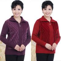 Women's cardigan winter the elderly mother clothing sweater women outerwear long-sleeve sweater female