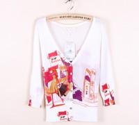 2013 summer women's shopping female sweater cardigan V-neck outerwear women's