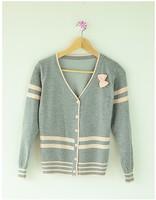 Autumn long-sleeve women's sweater cardigan thin school wear top fashion outerwear