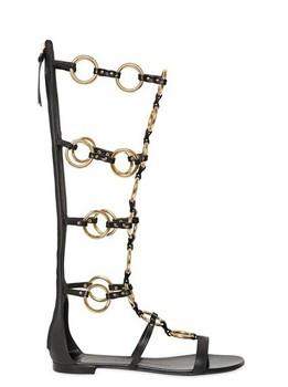 Бесплатная гонконг сообщение ~ f686 40/41 из натуральной кожи золотое кольцо длиной до колен сандалии ботинки