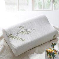 30x50 Bamboo Fiber Slow Rebound Memory Foam Pillow Cervical Health Care ESY1
