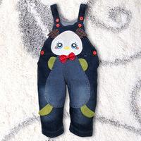 Denim overalls cartoon children children's clothing factory direct wholesale children's clothing woven denim overalls TZ17008
