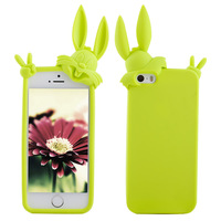 New Light Green Protective Rabbit Shockproof Silicone Back Cover Soft Case  for iPhone 5 5S Free Shipping