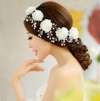 3PCS\SET Free Shipping Crystal Hairclip Wedding Bride Flower hairclip Bridal Hair Accessories Wholesale