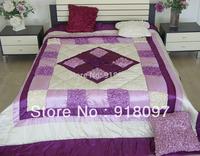Handmade pintuck bedspread quilt home decoration ready stock