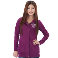Autumn phil women's sweatshirt stand collar solid color medium-long fashionable casual women's sweatshirt outerwear