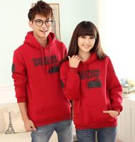 2013 thickening class service lovers outerwear lovers sweatshirt with a hood women's sweatshirt