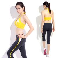 Yoga clothes set fitness clothing aerobics clothing female x007 12845