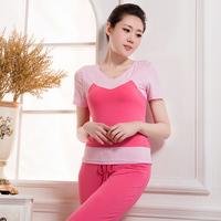 2014 yoga clothes yoga clothes short-sleeve set square dance clothes set yoga clothes set