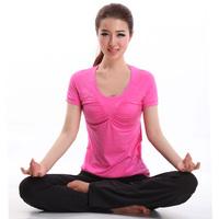 2014 yoga clothes fitness aerobics clothing short-sleeve set 14105 12159