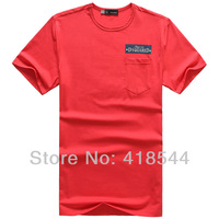Free Shipping new 2014 Summer DSQ T-shirts for Men short sleeve There are pockets in the right chest 100% cotton mens t shirt