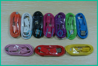 Universal Data Cable 1M Micro USB Sync Charger Line For Cell Phone Samsung Galaxy Note III Sony Nokia Colorful 500pcs/lot